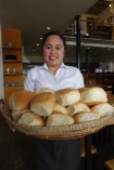 This huge pandesal is located at Cafe By The Ruins in Baguio. Heaven on earth!